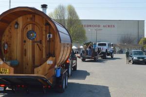 The Parade even had a mobile Sauna